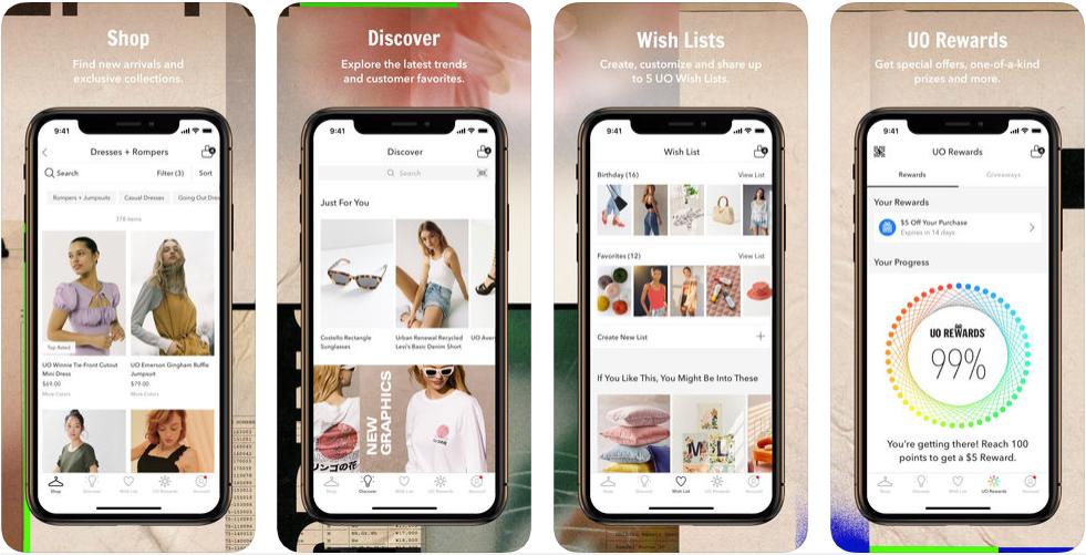 urban -shopping apps uk