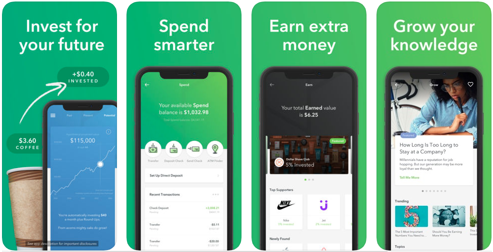 Acorns - stock trading apps uk