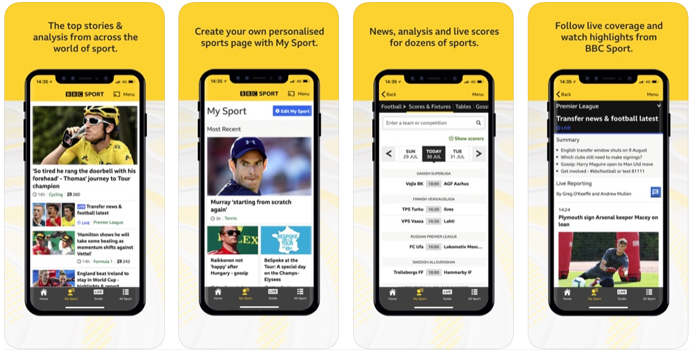BBC sport - best sports apps
