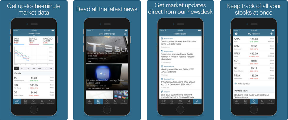 Benzinga - stock trading apps uk