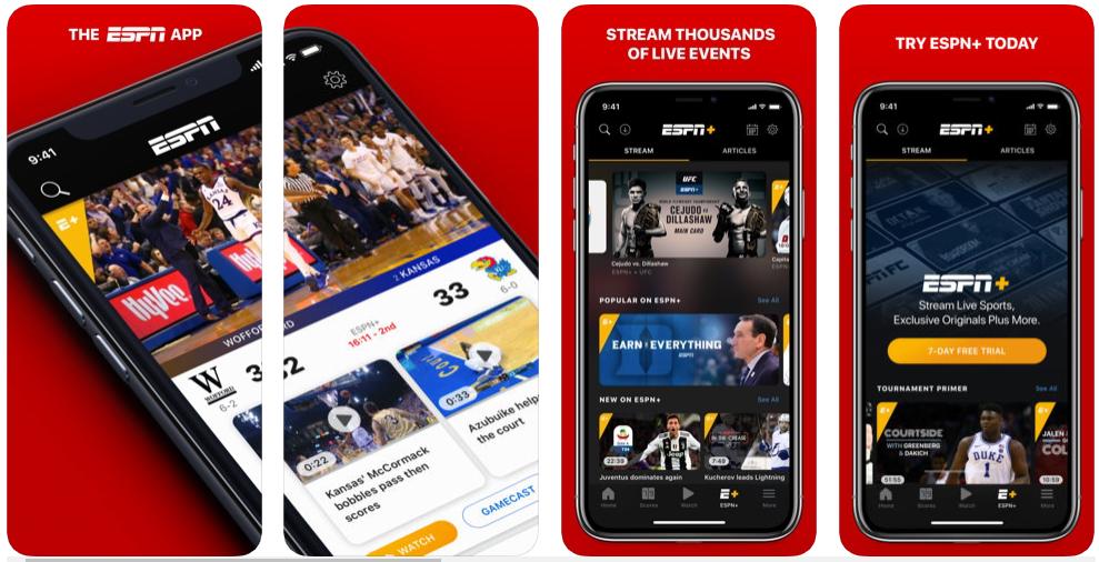 espn - best sports apps