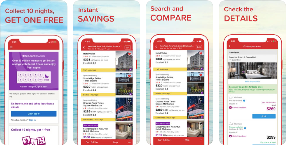 Hotels com - hotel booking apps