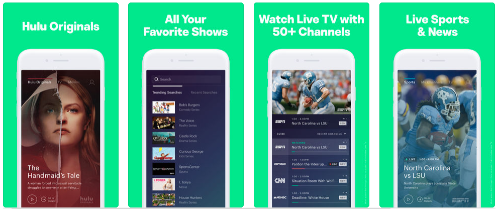 Hulu TV - live streaming apps