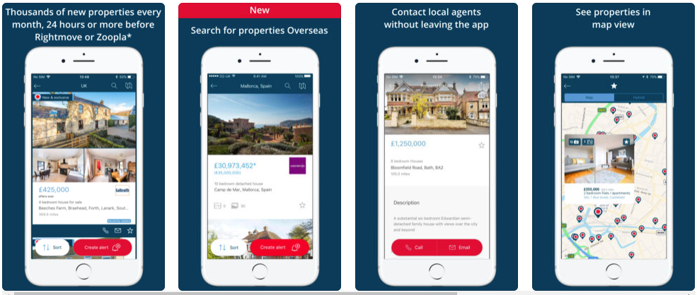 on the market- real estate apps