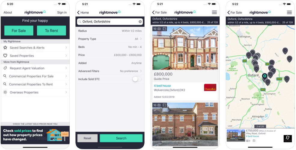 right move - real estate apps