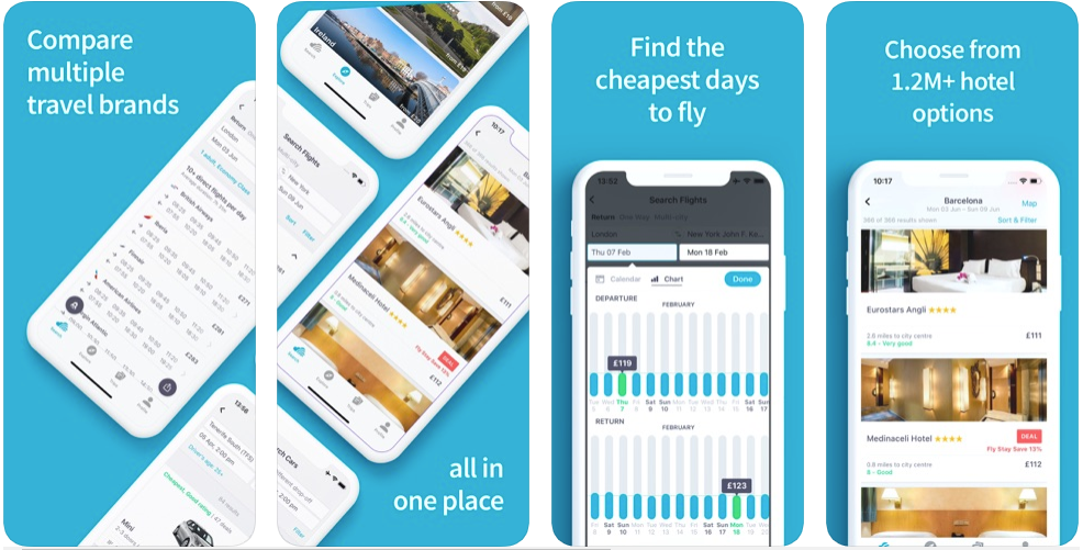sky scanner - hotel booking apps