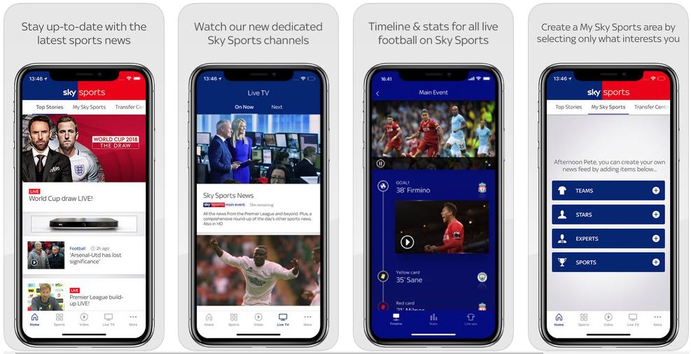 sky sports - best sports apps