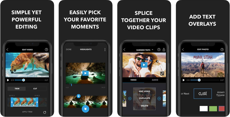 splice video editor - best iphone apps