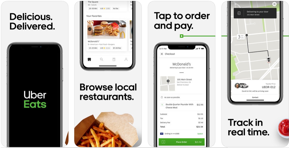 uber eats - food delivery apps