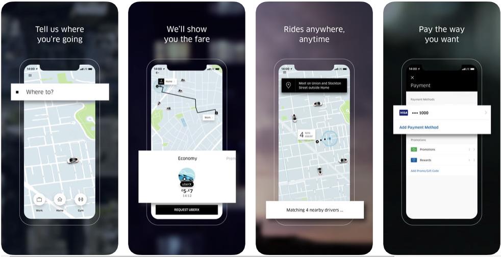 uber - ridesharing apps
