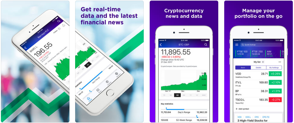 Yahoo Finance - stock trading apps uk