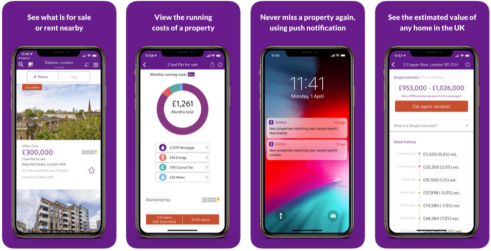 zoopla - real estate apps