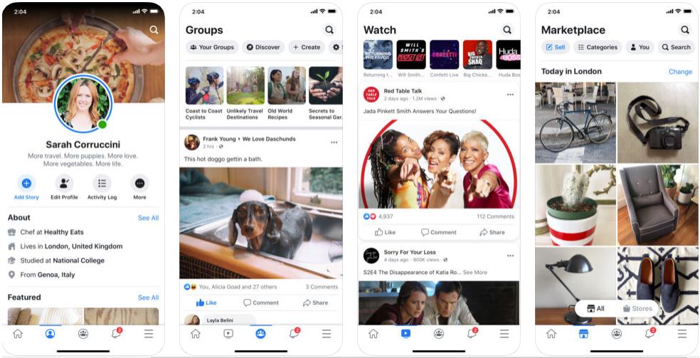 facebook - messaging apps