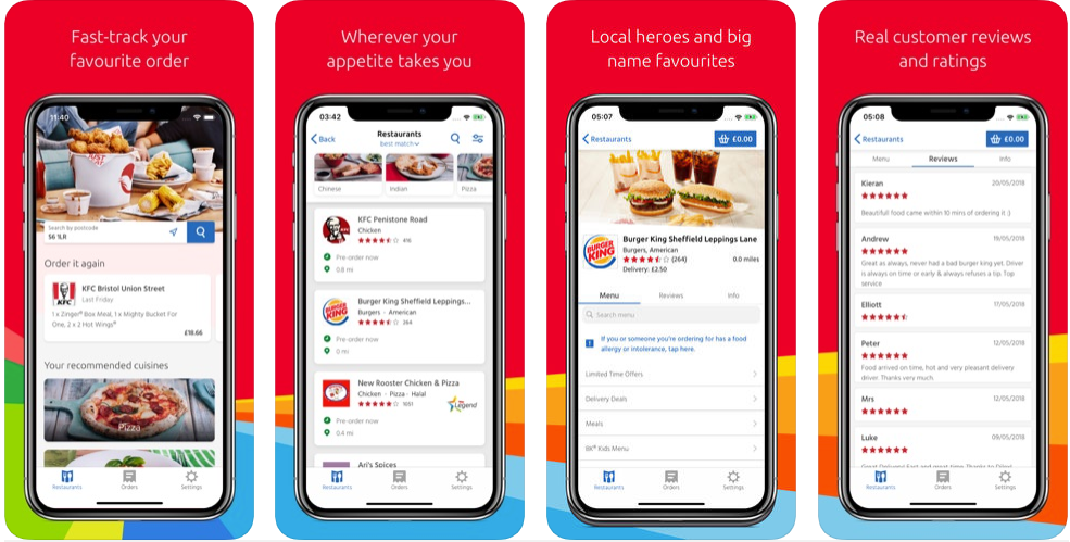 just eat - restaurant apps