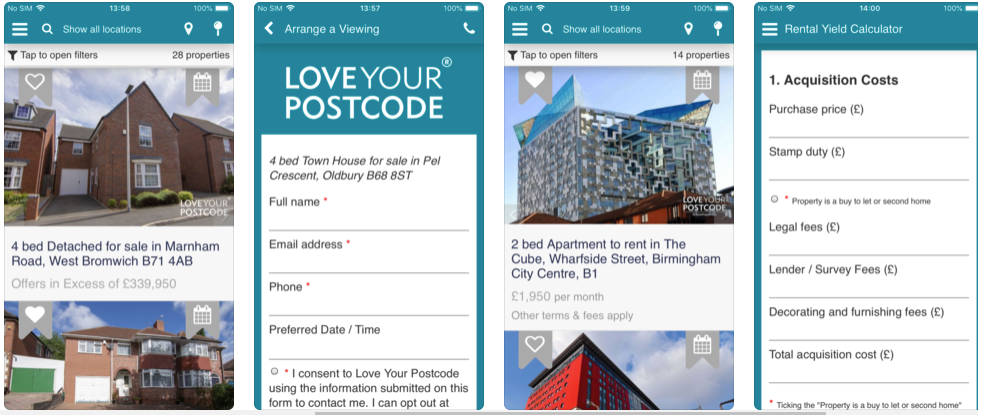 love your postcode- real estate apps