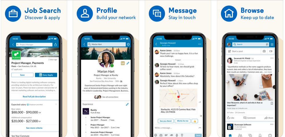 linkedIn app - free social media apps in uk