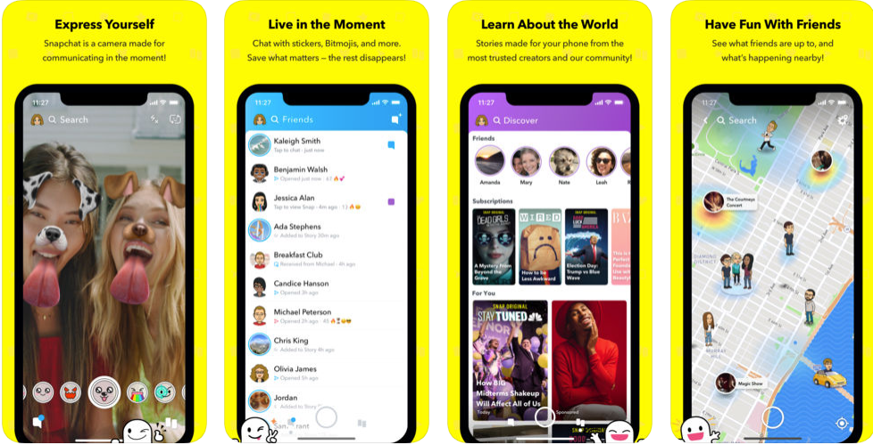snapchat - best iphone apps