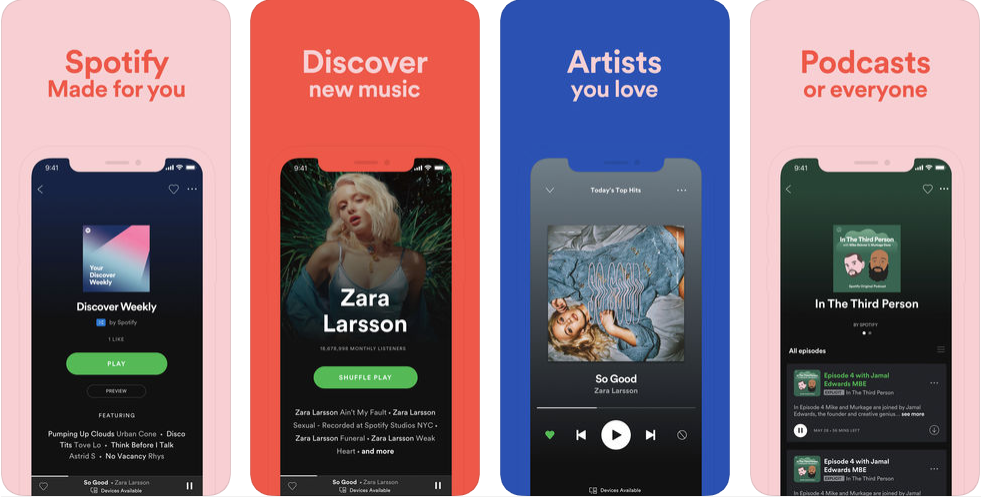 spotify -free music apps