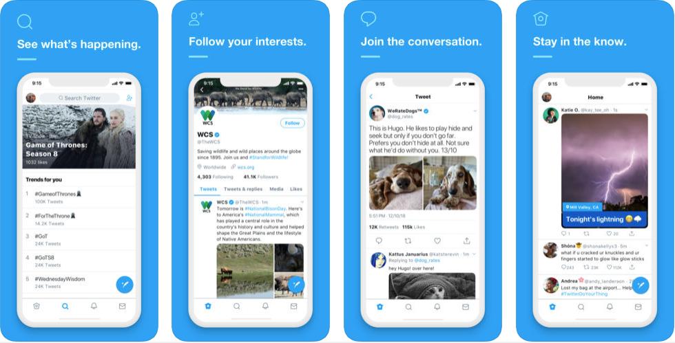 twitter - messaging apps