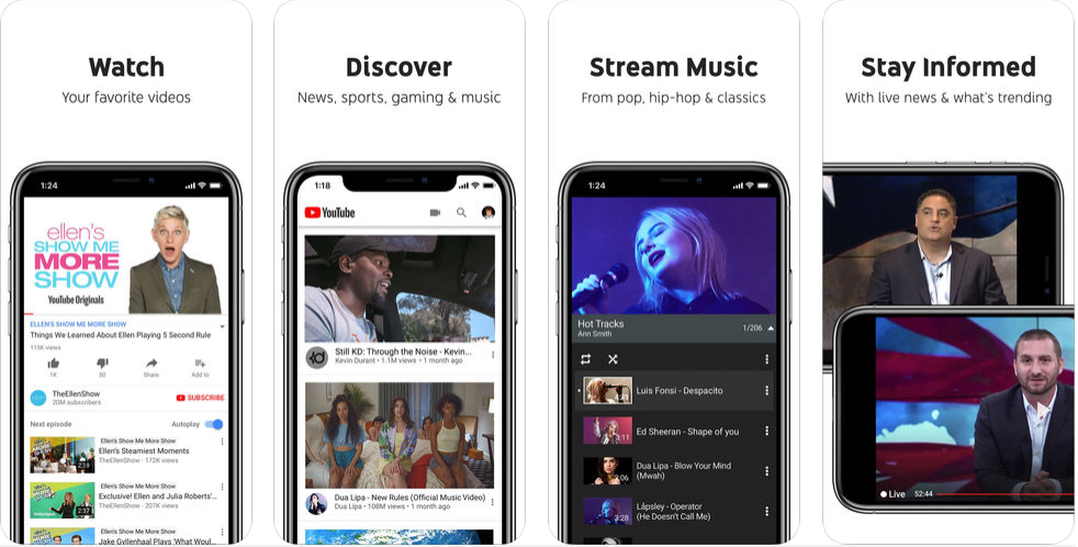 youtube app - free social media apps in uk