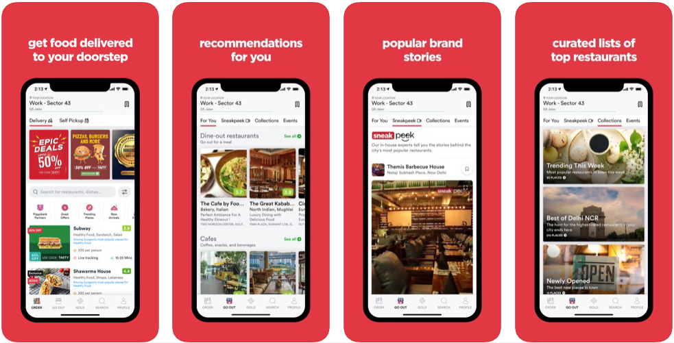zomato - android apps