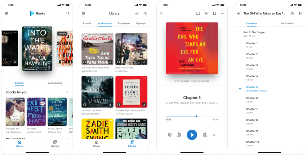 Google Play Books - best ebook reader apps