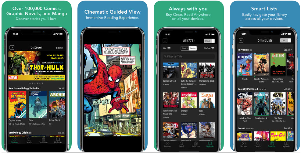 comiXology - best ebook reader apps