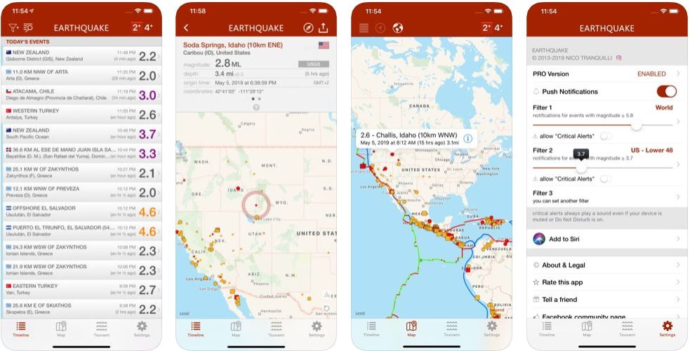 Earthquake Alert - disaster management apps