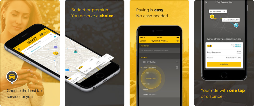 Easy taxi - ridesharing apps