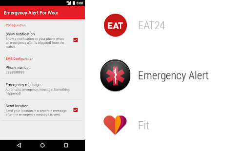Emergency alert - personal safety apps