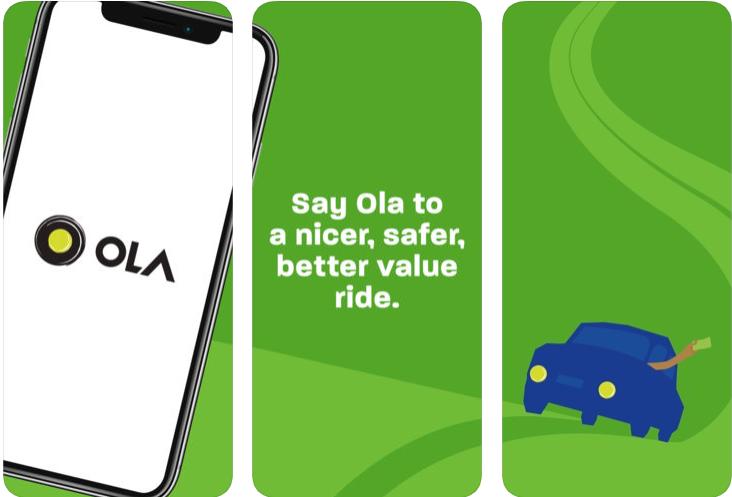 Ola - ridesharing apps