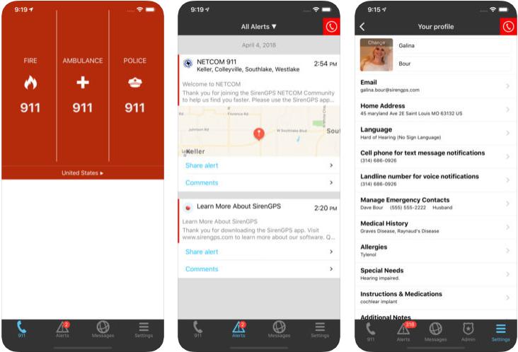SirenGPS - disaster management apps