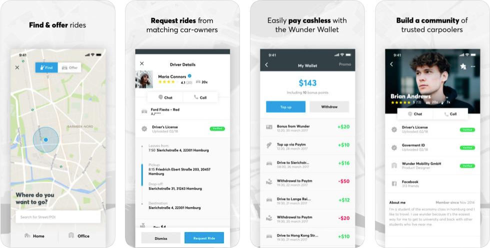 Wondercar - ridesharing apps