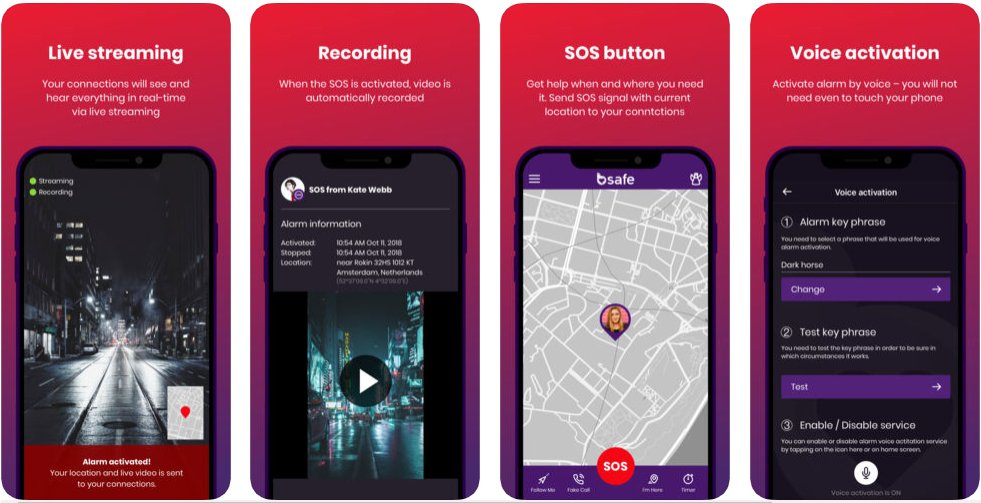 bsafe - personal safety apps