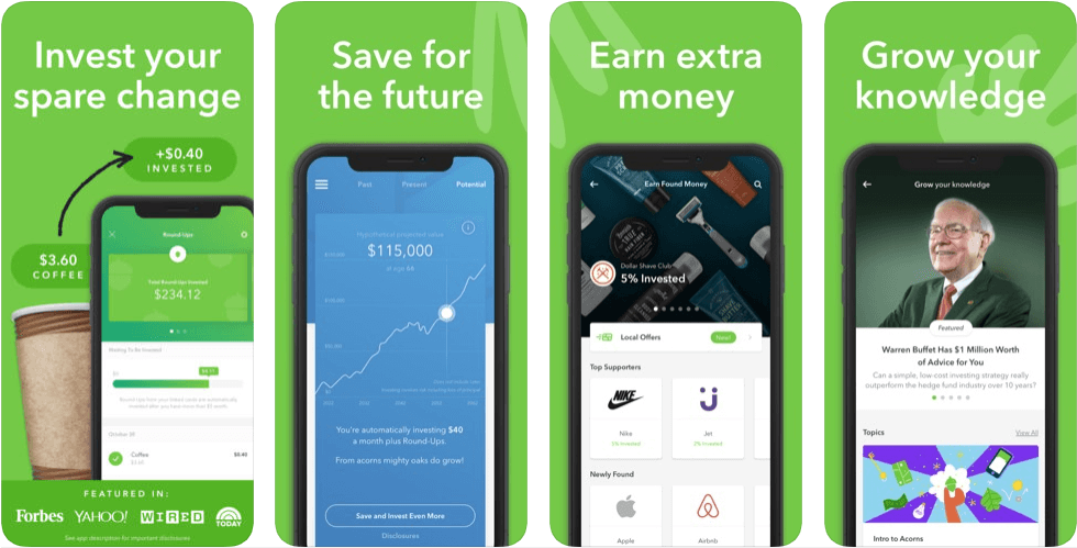 Acorns - personal finance apps