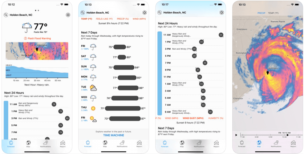 Dark Sky - weather forecast apps