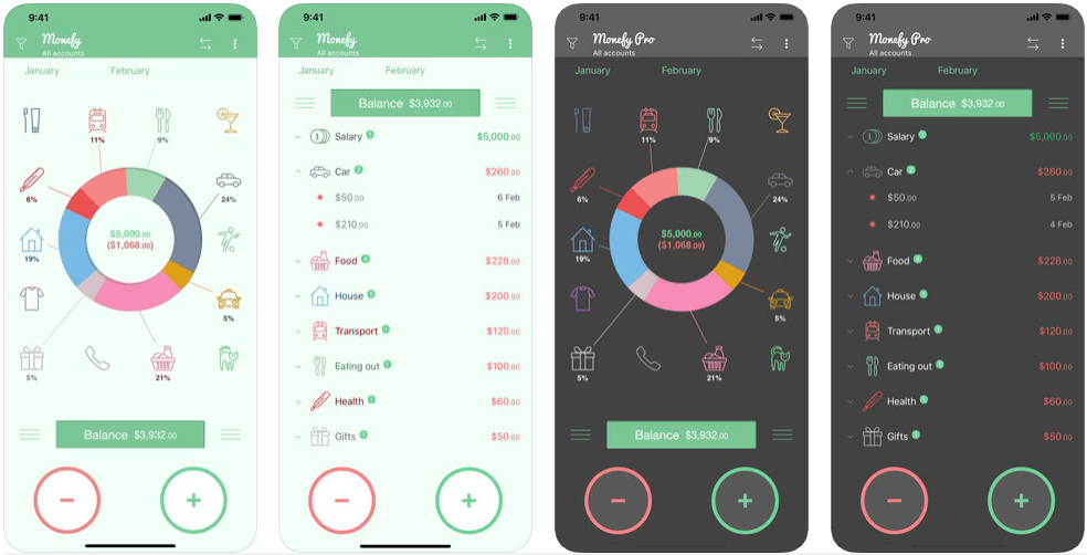 Monefy - personal finance apps