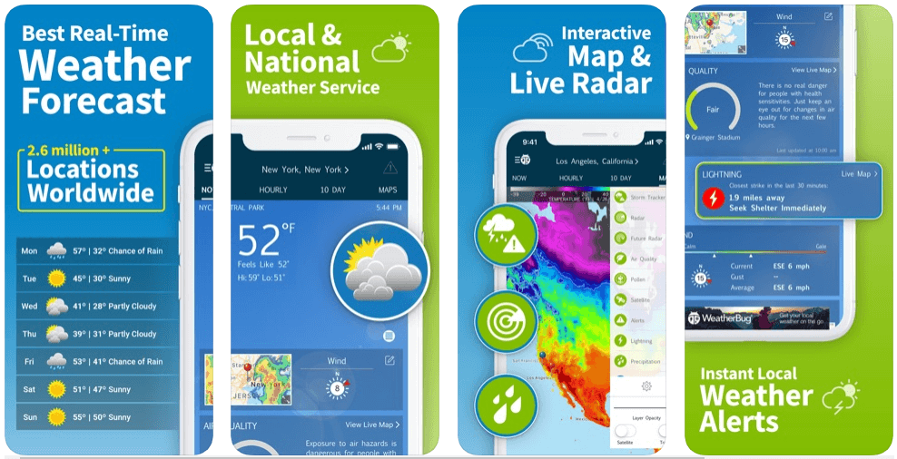 WeahterBug - weather forecast apps