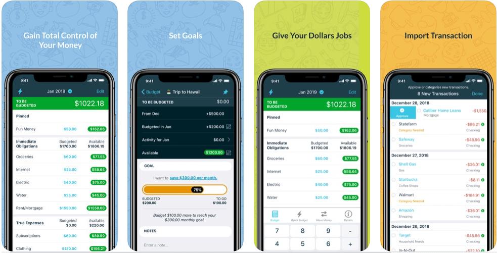 YNAB - personal finance apps
