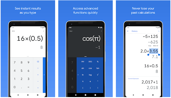 Calculator Google - calculator apps