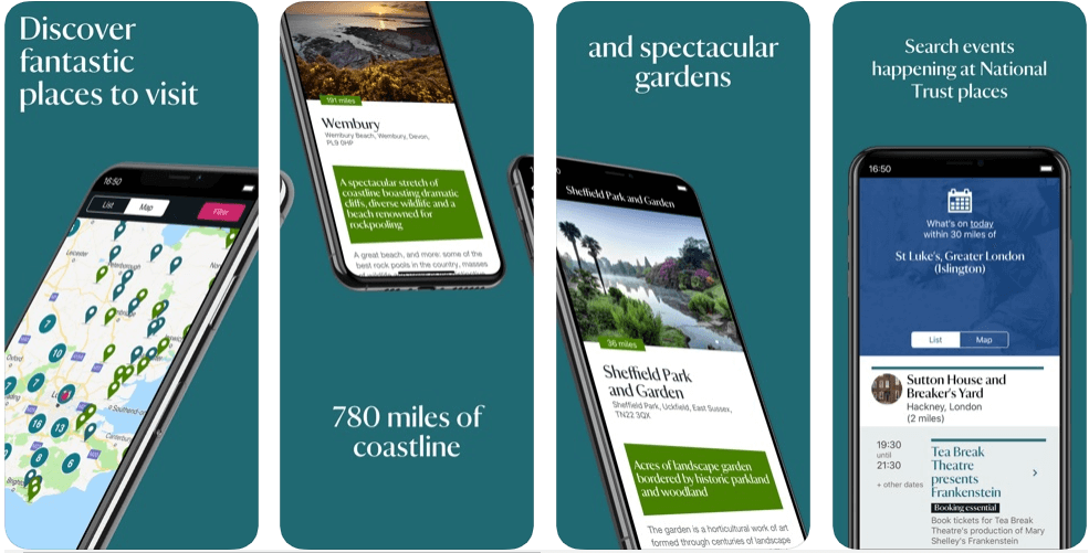 National Trust - best travel apps