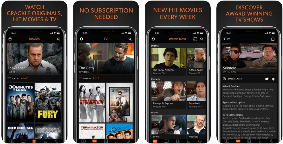 Sony Crackle - free movie apps