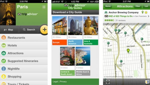 trip-advisor-city-guide - best travel apps