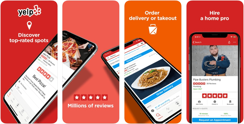 Yelp - restaurant apps