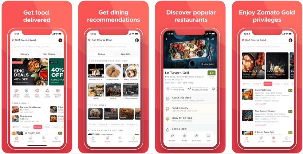 Zomato - restaurant apps