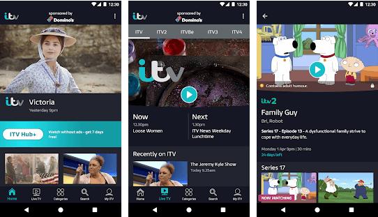 ITV HUB - tv apps
