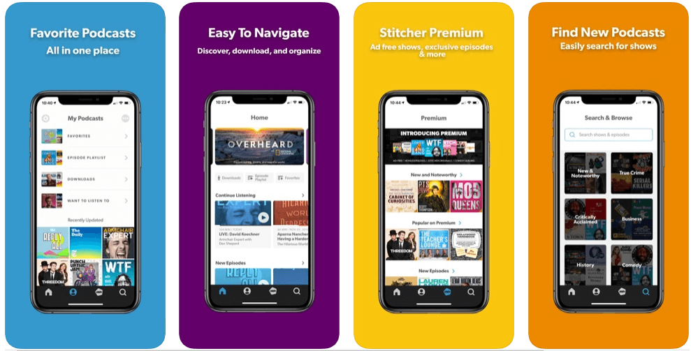 Stitcher- best free podcast apps