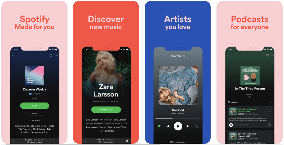 spotify- best free podcast apps