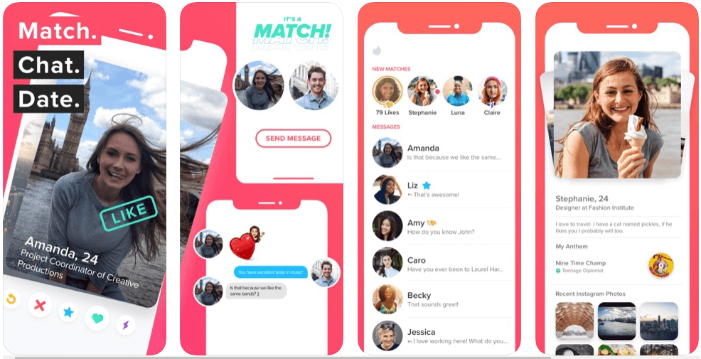 tinder app features