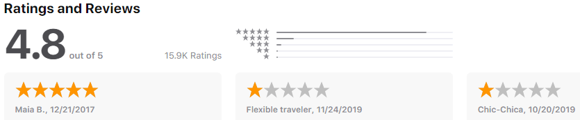 Hitlist - rating - flight booking apps